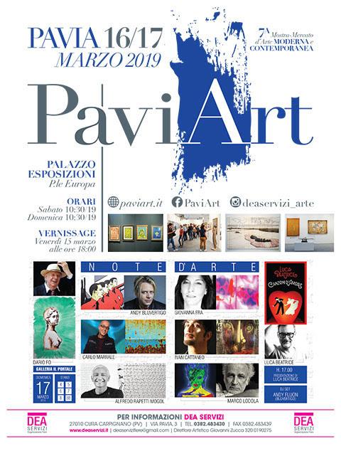 PaviArt 2019  7ª mostra d'arte moderna e contemporanea a Pavia